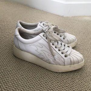 Jeffree Campbell flame platform sneakers